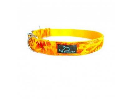 Shinee Obojky pro psy obojek krasny stylovy designovy demeven s kovovou sponou dog collar beautiful stylish yellow zluty psi obojek
