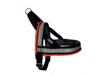 postroj cerny svitici norsky obojek reflexni s odrazkou nocni venceni obojek USB dobijeci nabijeci psi pro psa demeven ksiry shop safety