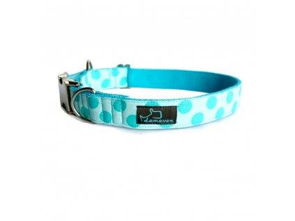 Sea Obojky pro psy obojek krasny stylovy designovy demeven s kovovou sponou dog collar beautiful stylish modry blue tyrkysovy psi obojek