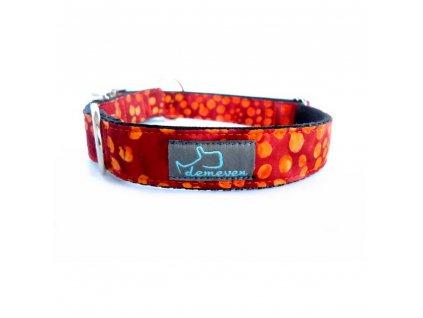 Uluru Obojky pro psy obojek krasny stylovy designovy demeven s kovovou sponou dog collar beautiful stylish oranzovy batikovany hnedy orange psi obojek