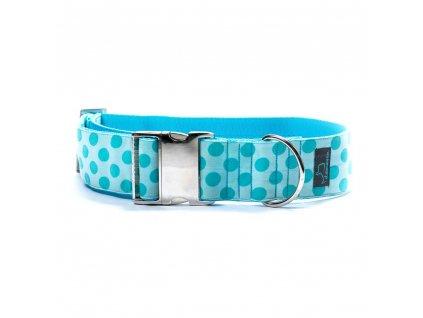 Sea XL obojek pro psa siroky 5cm s kovovou sponou krasny pro velka premena dogu vlkodav staford dog collar demeven metal buckle blue modry