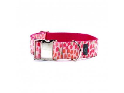 Bunnyi XL obojek pro psa siroky 5cm s kovovou sponou krasny pro velka premena dogu vlkodav staford dog collar demeven metal buckle pink ruzovy