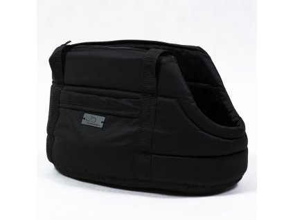 cerna elegantni taska pro psy kocky taska na rameno stylova luxusni zateplena s poutkem demeven