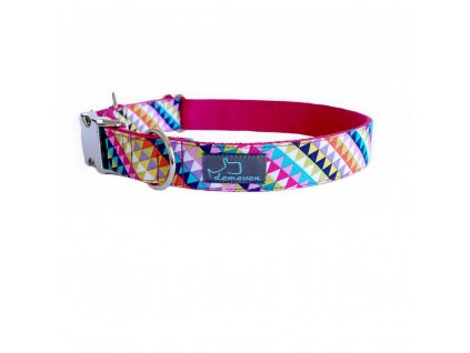 PinkJoy Obojky pro psy obojek krasny stylovy designovy demeven s kovovou sponou dog collar beautiful stylish blue modry batic batikovany psi obojek