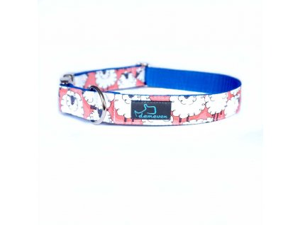 oveckovy Obojky pro psy obojek krasny stylovy designovy demeven s kovovou sponou dog collar beautiful stylish pink violet ruzovy fialovy psi obojek