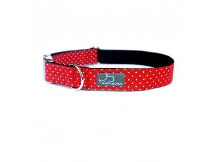 Eve Obojky pro psy obojek krasny stylovy designovy demeven s kovovou sponou dog collar beautiful stylish cerveny modry red blue psi obojek