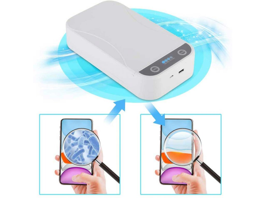 UV sterilizacni box na mobil