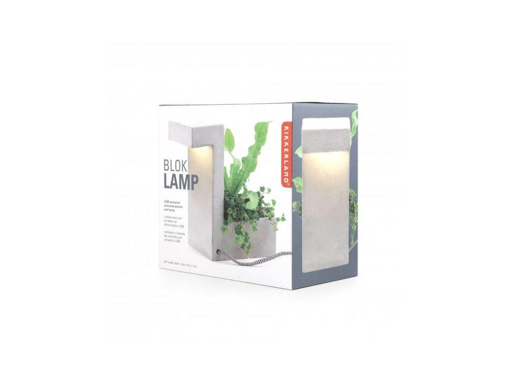 773 betonova stolni lampa s prihradkou na rostlinu