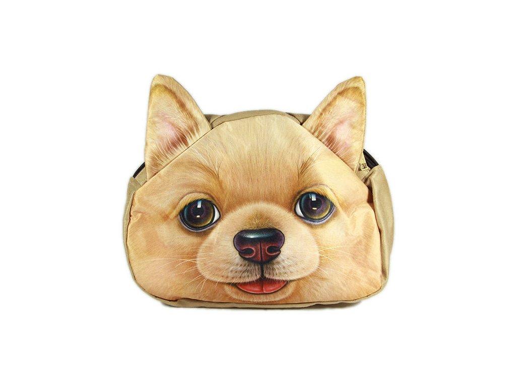 3D-kabelka-pes---Pes-zrzavy-na-Deminas