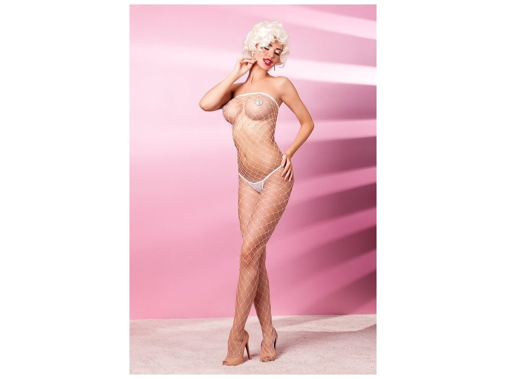 Bodystocking-v-bile-barve---Estamo-white-L/XL-na-Deminas