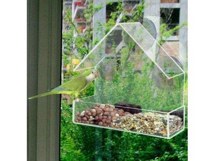 krmitko pro ptaky na balkon a okno