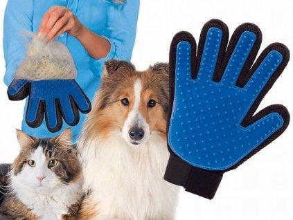 14063 vycesavaci rukavice srsti pro psy a kocky