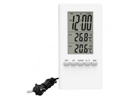 15245 1 solight teplomer teplota velky displej datum cas bily