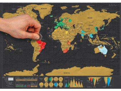 6012 7stiraci mapa sveta deluxe cerna