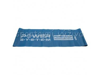 10077 flat stretch band level 1 posilovaci guma modra