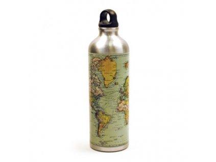 lahev na vodu s mapou sveta