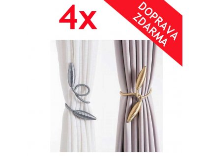 luxusni spony na zavesy 4x