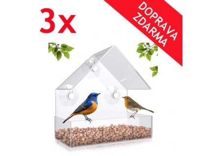 krmitko pro ptaky 3x
