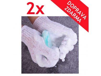 peelingove rukavice 2x