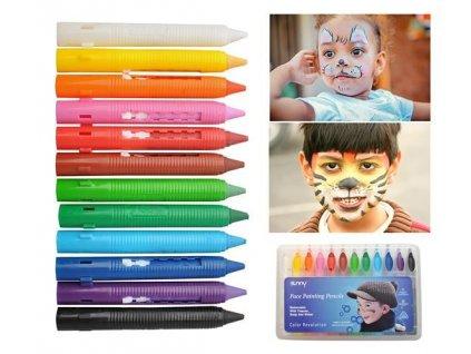 Skvělé barvy na obličej na malování na obličej a tělo
