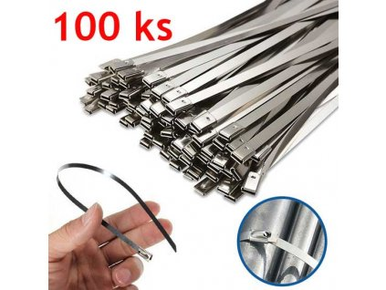 kovove stahovaci pasky z nerezove oceli 100ks