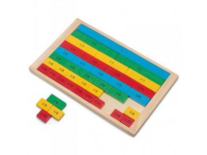 2201 drevena tabulka zlomku pro deti