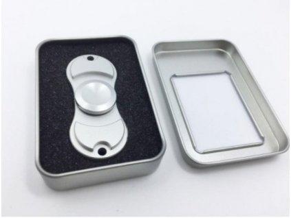 Fidget Spinner Metal DELUXE (Varianta Stříbrná)