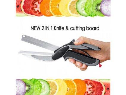 7592 nuzky do kuchyne 2v1 clever cutter