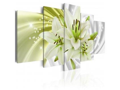 Obrazy-na-stenu---zelena-lilie---100x50-cm-na-Deminas