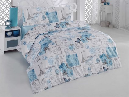 Prodlouzene-povleceni-bavlna-140x220,-70x90cm-Paris-modra,-Vyber-zapinani:-zipovy-uzaver-na-Deminas