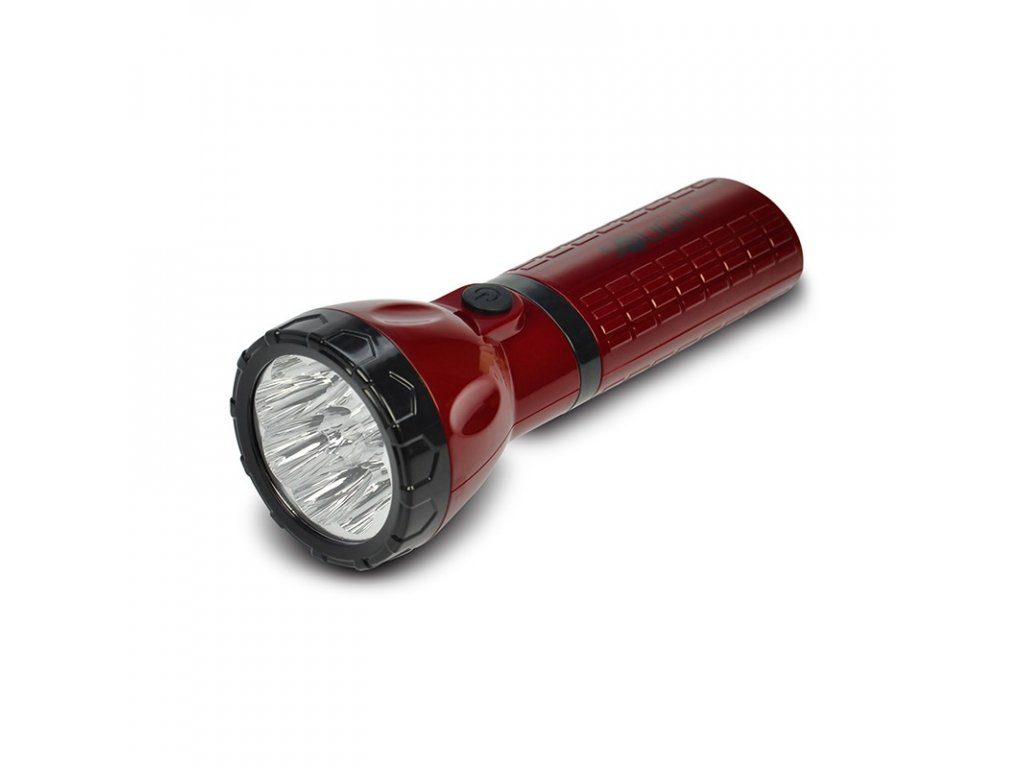 15158 7 Solight nabíjacie LED svietidlo plug in pb 800mAh 9x ľad červenočierny