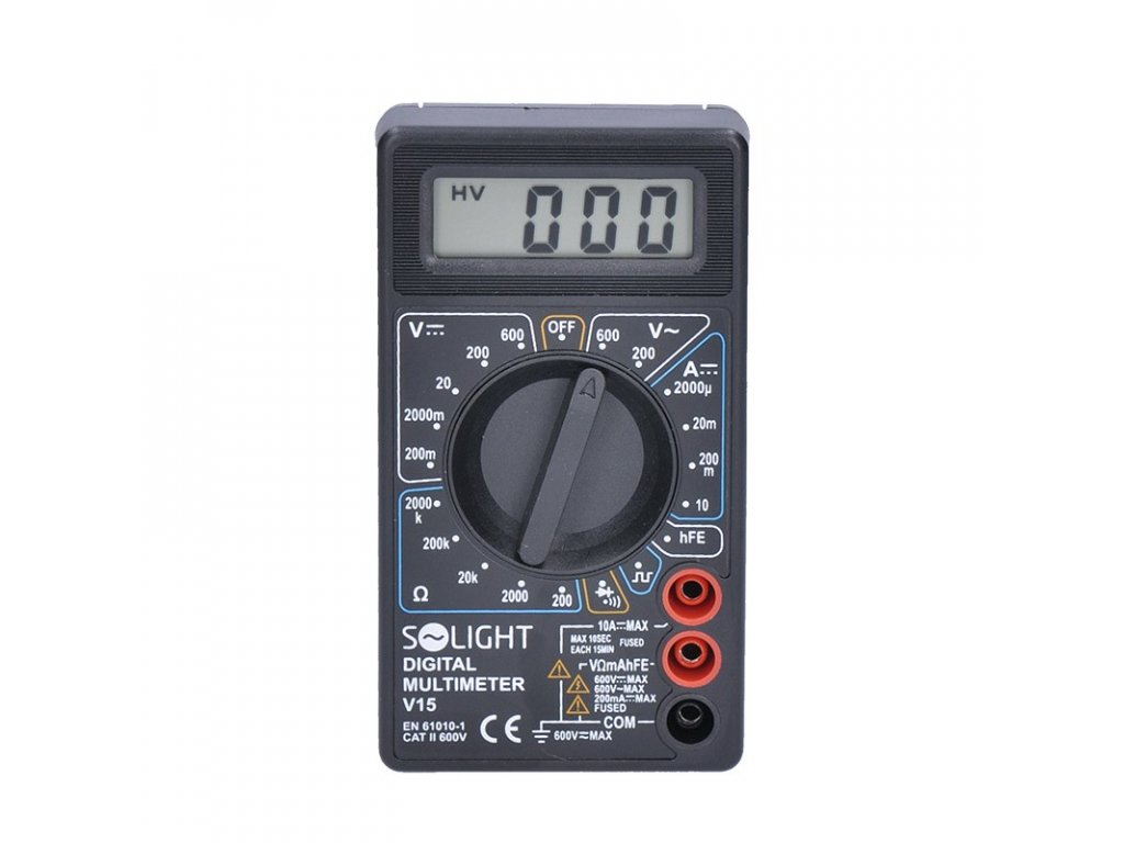 15152 4 Solight multimeter max ac 500v max dc 500v 10a test diódy bzučiak