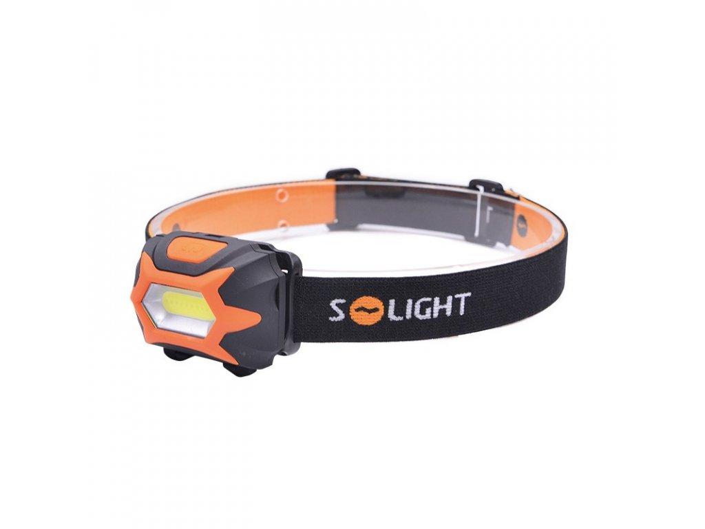 15539 3 Solight čelové LED svietidlo 3w cob 3x aaa