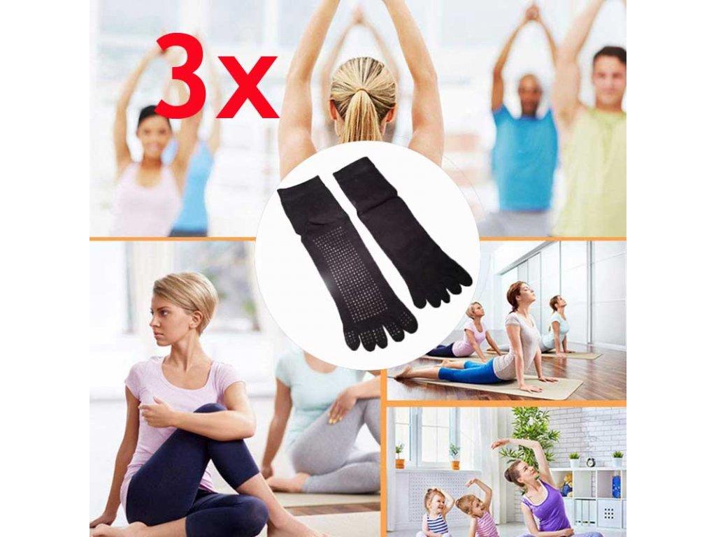 ponozky na jogu 3x