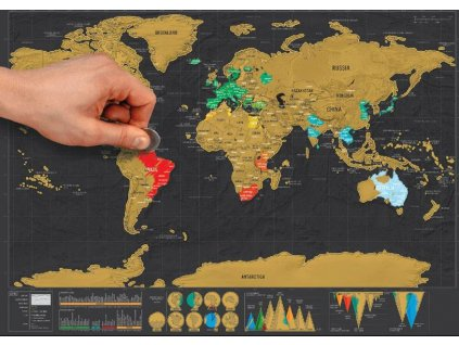 6012 7stiraci mapa sveta deluxe cierna