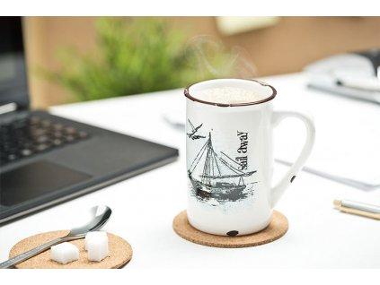 Porcelánový-retro-hrnček --- Sail-away-na-Deminas