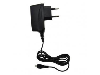 15503 2 Solight USB nabíjací adapter kábel microUSB 1500mA ac 230v cierny