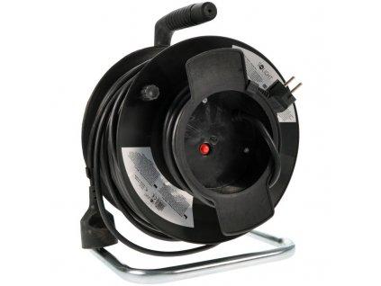 15200 2 Solight predlžovací prívod na bubne 1 zasuvka cierny 50m