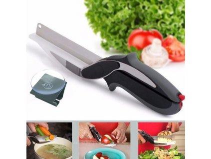 7592 1 noznice do kuchyne 2v1 clever cutter