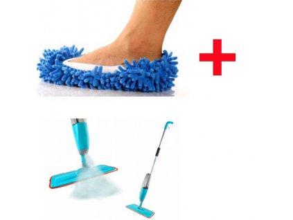 mop s rozprasovacom a mop papuce