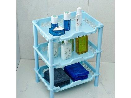 Plastovy-organizér --- 3-priehradky --- modry-na-Deminas