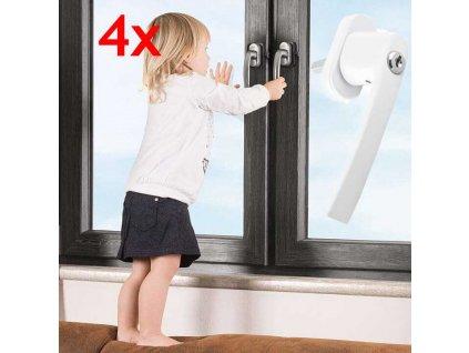 klucka na okna so zamkom 4x