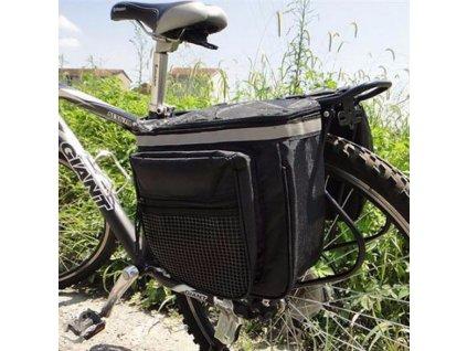 Kvalitná taška na zadný nosič bicykla