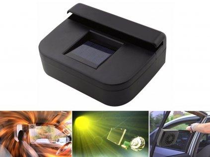 jedinecny solarny ventilator do auta