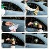3D Samolepka - rozbité sklo (Variant tennisový loptička)