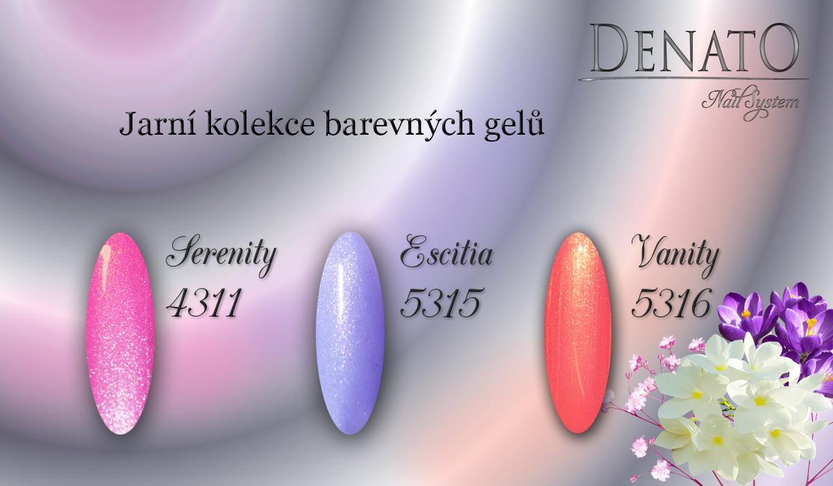 Jarní kolekce barevné gely