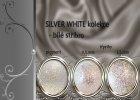 Silver White Glitter