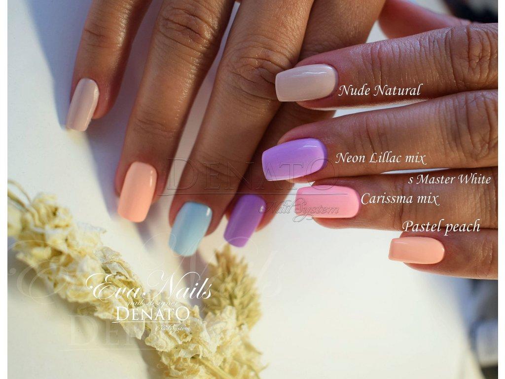 2149 Pastel Peach barevný uv led gel pastelová oranžová