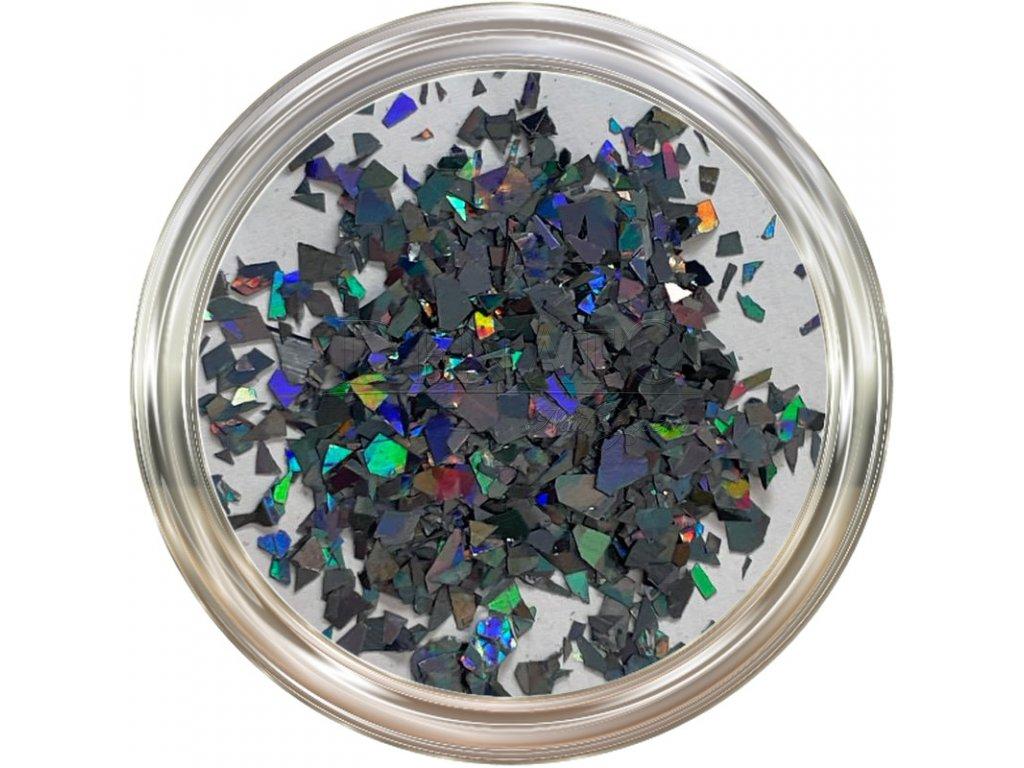 Hologram Slices Light Black  Třpytky a Glitry