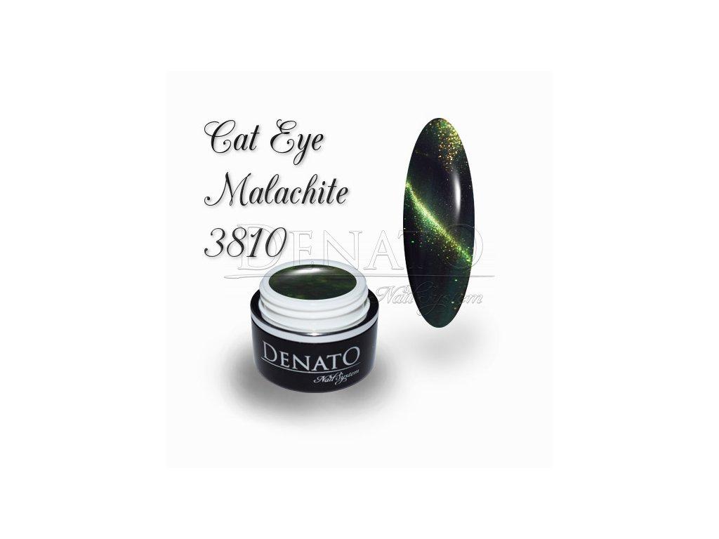 3810 CAT EYE Malachite barevný UV LED gel zelený